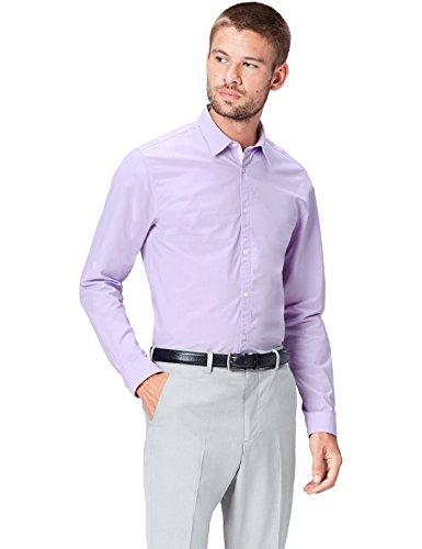 Find camicia in cotone slim fit uomo, viola (lilac), x-large