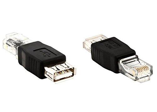 Adaptador RJ45 Macho a USB Hembra Conversor Convertidor de Cable Red Cat5e 2342