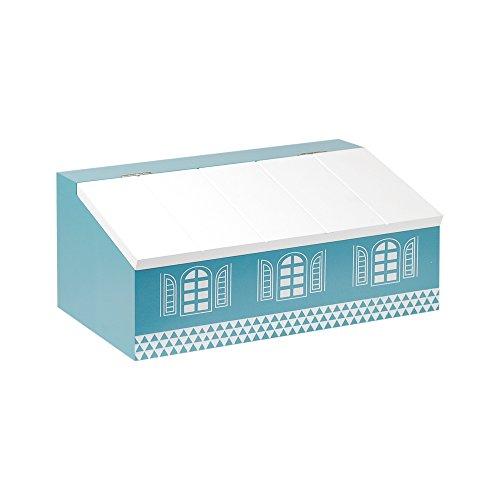 Art Deco Home - Kosmetiktücherbox, Holz, blau, 25 cm - 10789SG (Art-deco-handtasche)