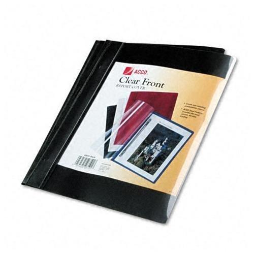 Preisvergleich Produktbild ACCO Clear Front Vinyl Report Cover COVER,RPT,CLR FRT,10PK,BK (Pack of8) by ACCO Brands