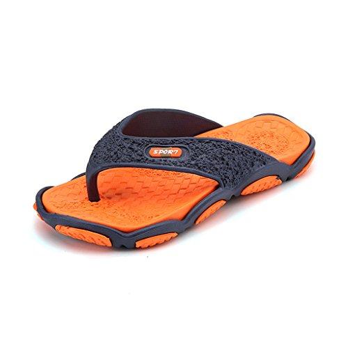 Eagsouni® Herren Sandalen Slipper Zehentrenner Flip Flops Thong Pantoffeln Orange