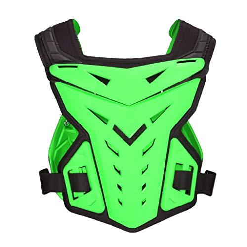 Shiwaki Motorrad Brustpanzer Brustschutz Fallschutz Schutzweste für Dirt Bike Fahren, Skifahren und Skaten - Grün