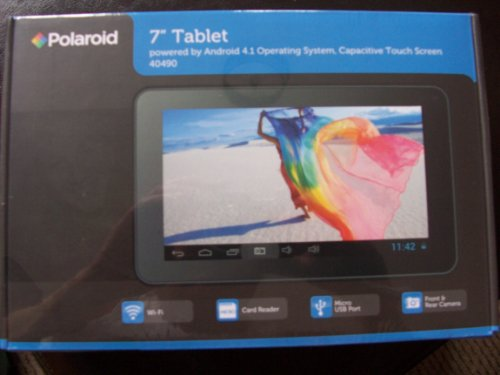 Polaroid Benross 40490 Bluetooth Kapazitiven Bildschirm Tablet - (RK2926 1.2 GHz Prozessor, 512 MB RAM, 4 GB HDD, Android Jelly Bean 4.1) (Liberty Android Tablet 7)
