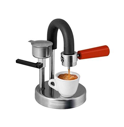 Kaffeemaschine Kamira farbversion rot, der cremige Espresso, auf den Herd gestellt. Das Vatertagsgeschenk! ( Freie unauslöschliche Textnachricht ) Espresso-kaffeemaschine Italien