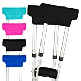 Vive Underarm Crutch Pads - Padding for Walking Arm Crutches - Padded Universal Underarm, Forearm Handle Pillow Covers for Hand Grips, Armpit - Foam Accessories for Kids, Adults (1 Pair)