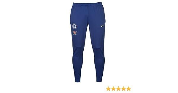 2017 2018 Chelsea Nike Tracksuit Pants (Blue):