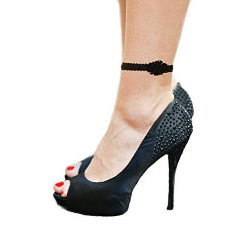 Gebu verstellbares Fußkettchen mit Anhänger in Silber für Damen