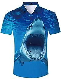 TUONROAD Hawaiian Shirt for Men Funny Cat 3D Printed Beach Shirt Short Sleeve Shit Shirt Mens Button Down Summer Casual Shirts M - XXL