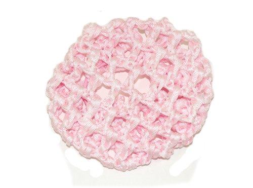 Jolies fleurs rose strass Ruban Crochet chignon Net.Ideal une danseus'en herbe.