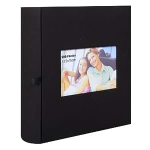 Erica - Album fotografico Erica Prestige Square, con tasche, Tessuto, nero, 300 foto