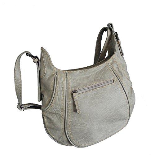 Bag Street -präsentiert von ZMOKA®, Borsa a tracolla donna Multicolore multicolore, grigio pietra (Grigio) - 0 grigio pietra