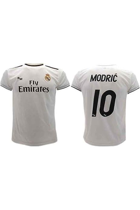 Camiseta oficial del Real Madrid Luka Modric 2018-2019 (S): Amazon.es: Deportes y aire libre