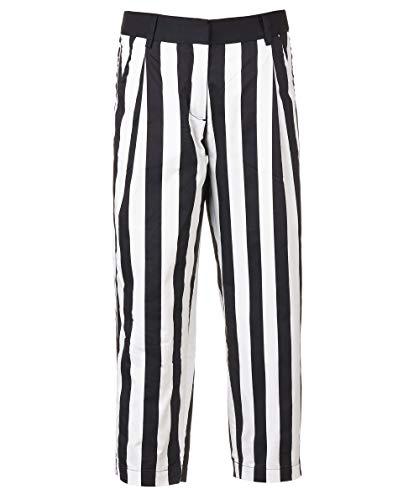 Gulliver Mädchen Hose   Farbe Schwarz Weiß Gestreift   gerade Passform   Baumwolle   für 8-13 ()