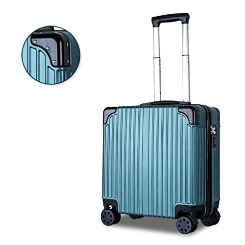 Kylinllx Trolley Case Boarding Case Leichte kleine Trolley Case 18 Zoll rechtwinklig Kofferraum mit Universal-Rad (Farbe : Rosa)