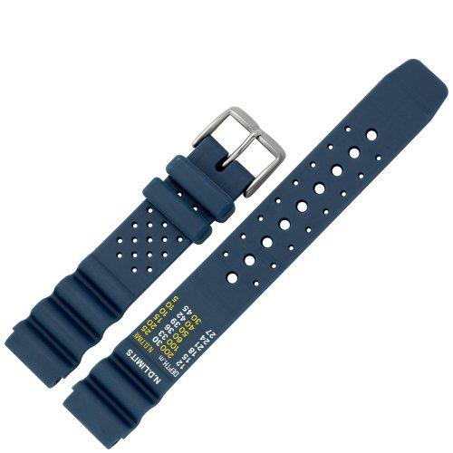 Uhrenarmband 20 Mm Kunststoff Blau