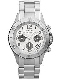 Marc Jacobs MBM3155 - Reloj unisex con correa de acero, color plateado / gris