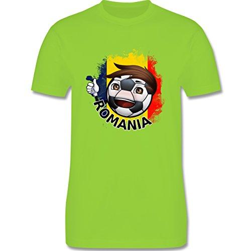 EM 2016 - Frankreich - Fußballjunge Rumänien - Herren Premium T-Shirt Hellgrün