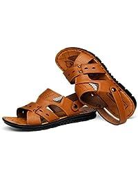 Beauqueen Man Beach à double usage Été Extérieur Chaussons Sandales Clip Toe Casual Respirant Doux Antidérapant Outsoles Chaussures UE Taille 38-44