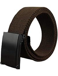 QINCH 15 Color Negro Hebilla Lienzo Hebilla Abierta Cinturón Jeans Hombres  Cinturones Nnen Cinturones Tejidos Estilo 1548b0bf4426