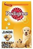 Pedigree Junior Croquettes Chiens 2 à 15 Mois Poulet Riz 3Kg (Lot de 2)