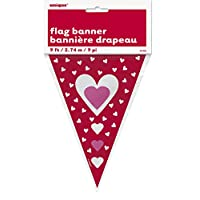 9ft Valentines Heart Bunting Flags