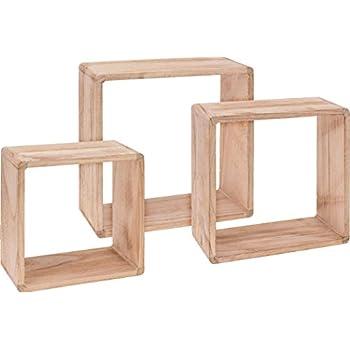 Vicco Wandregal 3er Set - 3 Größen Deko Würfelregal Holz
