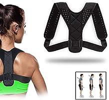 Haltungskorrektur für Männer und Frauen, verstellbare obere Rückenstütze zur Unterstützung des Schlüsselbeins und zur...