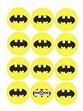 40x Pre Cut Batman Logo Kuchen, Cupcake Topper/Dekoration Essbar Wafer Papier