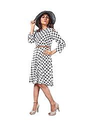 965c3c429c0 78%off DIEGO Western wear Black Skater Dress for Women (Medium)