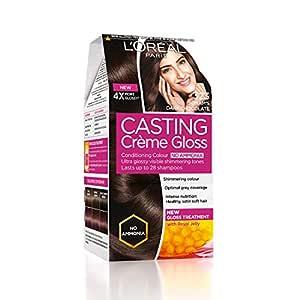 L'Oreal Paris Casting Creme Gloss Hair Color, Sonam's Dark Chocolate 323, 87.5g+72ml