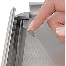 Master of Boards Alu Klapprahmen Plakatrahmen Wechselrahmen Bilderrahmen Ladeneinrichtung Silber Aluminium Rahmen für Plakate Rahmen für Bilder Rahmen Aushang Klicksystem (Gehrung, DIN A2)