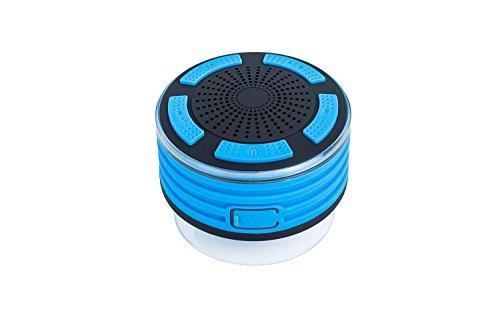 Dusche-Lautsprecher, Stoga IP67 wasserdicht / Unterwasser Stoß- drahtlose Bluetooth-Stereo-Lautsprecher Eingebautes Mikrofon für Freisprechfunktion mit FM-Radio, MP3-Player, und Multiple Color LED-Licht Funktionen / Blau (Bluetooth Dusche Lautsprecher Stereo)