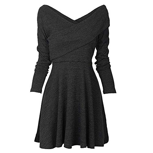OSYARD Damen Pullover Kleid Dress Sweatshirt, Mode Frauen Top Bluse T-Shirt Hemd Pulli Oberteile...