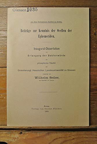 Beiträge zur Kenntnis der Ocellen der Ephemeriden.