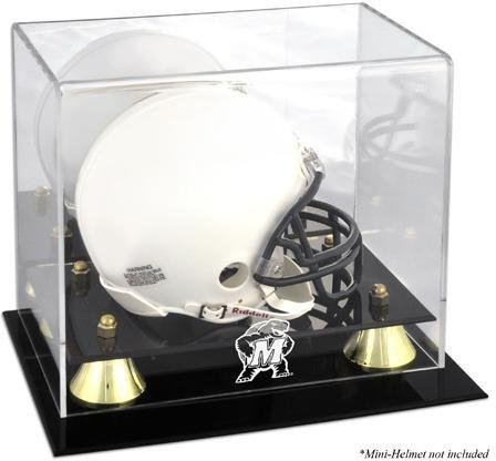 Maryland Terrapins Golden Classic Logo Mini Helmet Display Case by Mounted Memories