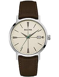 ffbd362f7527 Bulova Reloj Analogico para Hombre de Cuarzo con Correa en Piel 96B242