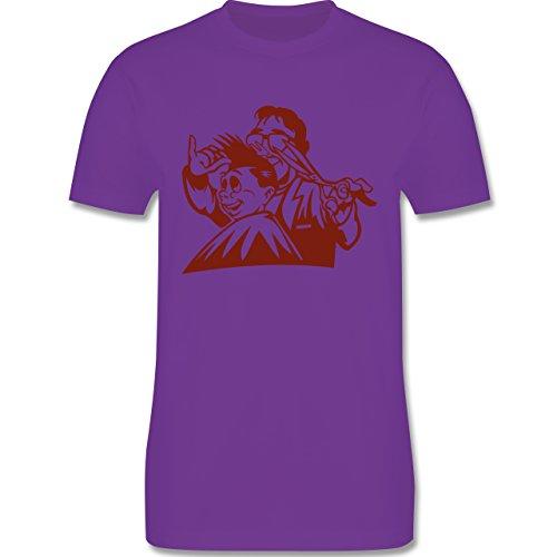 Handwerk - Friseur - Herren Premium T-Shirt Lila