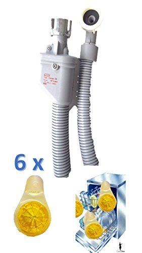 Aquastop Schlauch/Aquastop/Sicherheitszulaufschlauch für Waschmaschine und Geschirrspüler 3 m + Aktion Zitrone erhalten Sie 6 Duftzitronen für Ihren Geschirrspüler