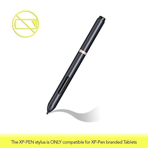 XP-Pen PN03 Wireless Eingabestift für Grafiktabletts Batterielos Stift Dreieck-förmig Passive Stylus nur für XP-Pen Star04,05 und Deco 01 Grafiktablett Schwarz