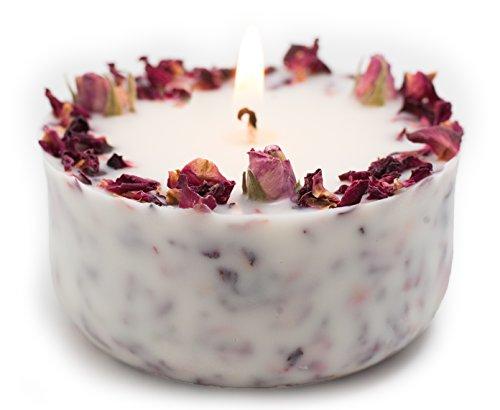 Duftkerze Soja Echte Rote Rosen Geschenk Kerze Geburtstag Bio Sojawachs ätherisches Öl Aromatherapie - Bio-aromatherapie-kerze