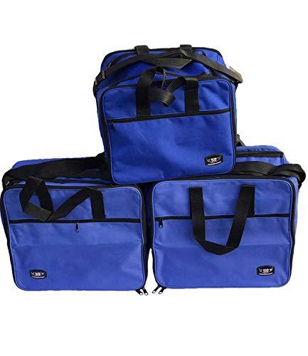 GREAT BIKERS GEAR - Koffer innentaschen Für BMW R1200GS Adventure GSA Aluminium Gepäckträgertaschen, Motorradreisetasche | Packtasche | Innentaschen Packtaschen (3 teiliges Set) (Blau)