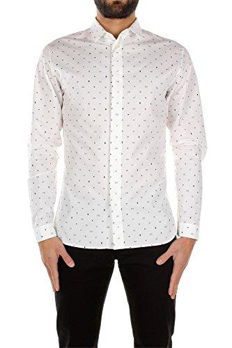 chemises-christian-dior-homme-coton-blanc-et-noir-533c596z3485080-blanc-40
