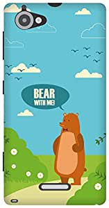 The Racoon Lean Bear with Me hard plastic printed back case/cover for Sony Xperia L