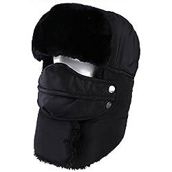 Topnaca Gorro unisex cálido, incluye máscara y cuello,estilo ruso, ideal para el frío invierno, reflectante, impermeable, térmico, cálido, apto para nieve, esquí, caza y senderismo