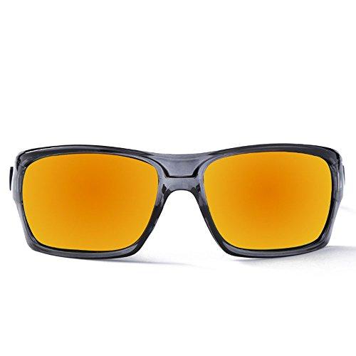 Easy Go Shopping Erwachsene Outdoor-Brillen Geeignet für Outdoor-Radsportliebhaber Radfahren Brillen Fahrrad Farbwechsel Gläser Sonnenbrillen und Flacher Spiegel (Farbe : Orange)