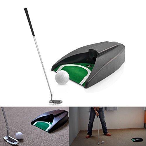 Sourcingbay Mini GOLFSPIELER Spielzeug für den Innenbereich Golf Spiele Set - Ballrücklauf System, Zink Legierung Putter Geschenkidee