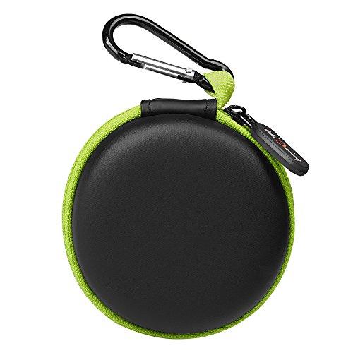 Mini Kopfhörer Tasche mit Schnalle, HiGoing headset ohrhörer Schutztasche für In Ear Ohrhörer, MP3 Player, iPod Nano, Schlüssel, Lovely Macarons Aussehen ( Innenmaß 6.8cm x 6.8cm x 4.0cm ) (Grün und Schwarz)
