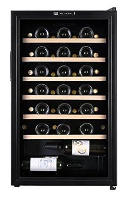 La Sommeliere CVD50 1 zone 48 bottle Wine Cooler with Digital Display by La Sommeliere
