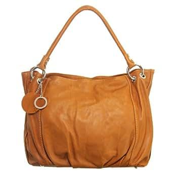 Kevim - sac en cuir /made in italy 860 - Couleur Camel