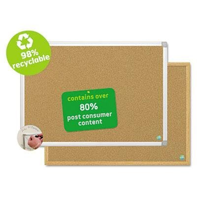 Mastervision - Earth Cork Board 18X24 Aluminum Frame Product Category: Presentation/Display & Scheduling Boards/Bulletin Boards by MasterVision (Mastervision Cork Board)
